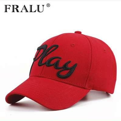 FRALU Nueva 100% algodón gorra de béisbol de las mujeres casuales snapback hat para hombres casquette homme Letter bordado gorras