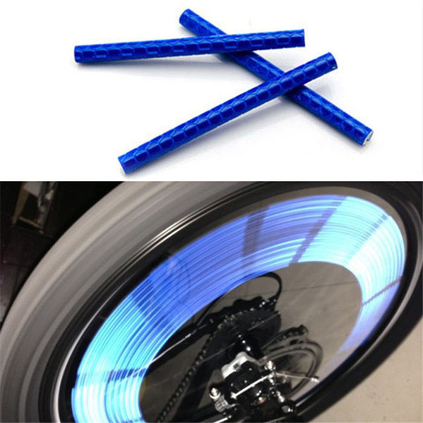 12Pcs Bicycle Light Wheel 2017 Spoke Clip Tube Cycling Strip Reflective Reflector Bike Bicycle Accessories Safety Warning Light