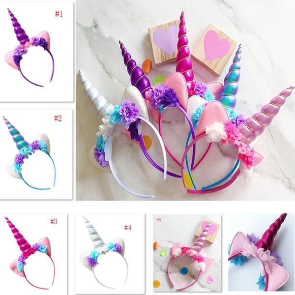 Halloween Einhorn Stirnband Für Kinder Kinder Erwachsene Blume Hairwear Party Cosplay Kostüm Haarschmuck Ohr Haar Sticks DHL Schiff HH7-1547