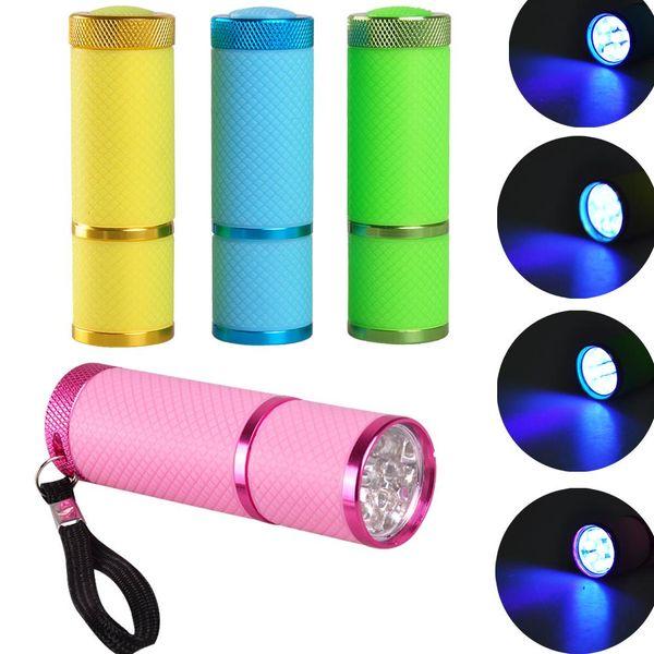 Secador de uñas Mini Linterna LED Portátil Para Gel de Uñas Secador Rápido Cure 4 Colores Elija Herramienta de Curado de Manicura de Gel de Uñas