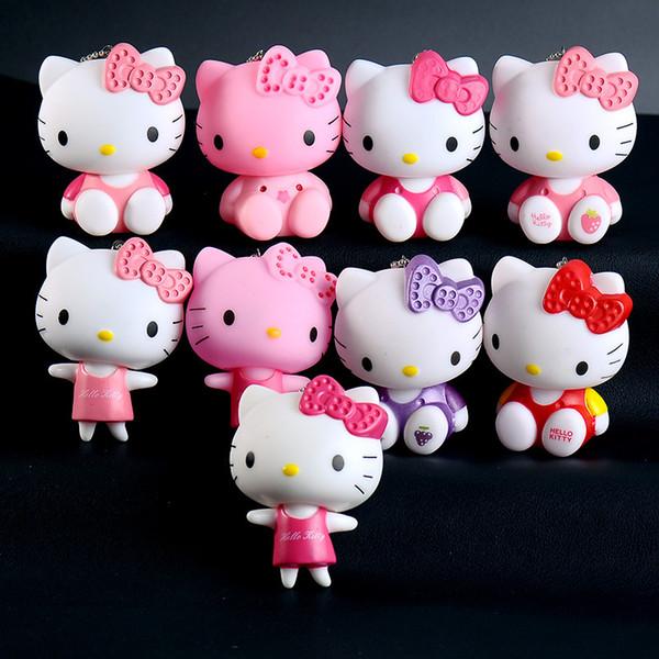 Moda Sevimli Hello Kitty Anahtarlık Kedi Porte Clef Çanta Araba Anahtarlık Karikatür Bebek KT Anahtarlık Chaveiro Kadınlar Kolye Takı Hediye