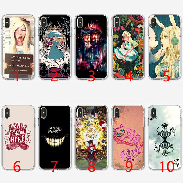 coque iphone 8 alice in wonderland cat