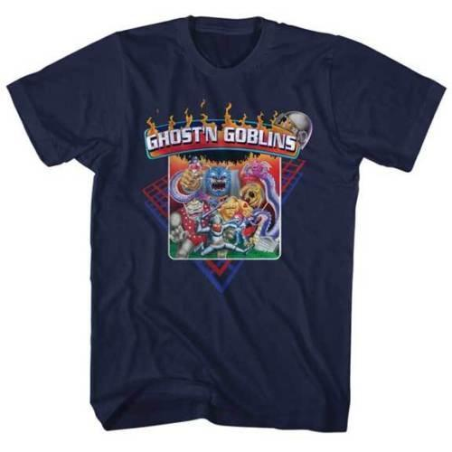 Ghost And Goblins Group Of Goblins Capcom Video Game Adult T Shirt T-Shirt Free Shipping Top Tees