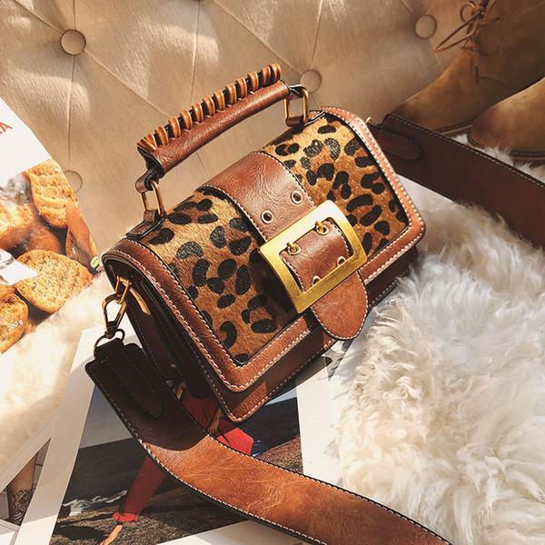 8aee792feff Women Luxury Handbags Women Bags Designer Leather Handbags And Purse  Crossbody Vintage Leopard Small Women Messenger Bags Purse Y18102204 Duffel  Bags ...