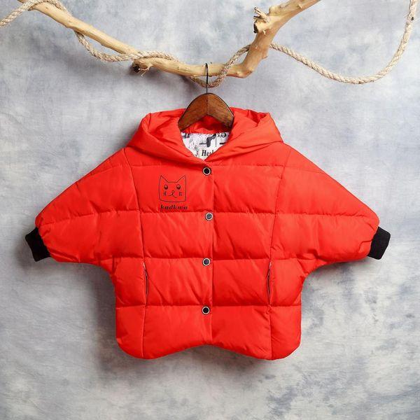 5f1ab61dcd31 Cute Five Point Star Shape Down Jacket Hooded Bat Sleeve Short Snow ...