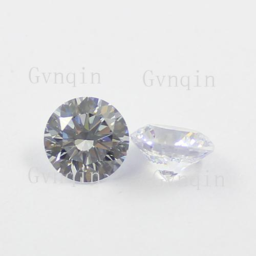 100pcs/lot free shipping 6mm-8.25mm AAA cubic zirconia white round loose gem stones