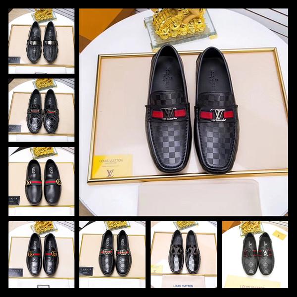 Luxury Metal Decoration Men Loafers Comfortabl Elegant Weaving PU Dress Shoes Men's Flats Casual Shoes Big Plus Size 38-45
