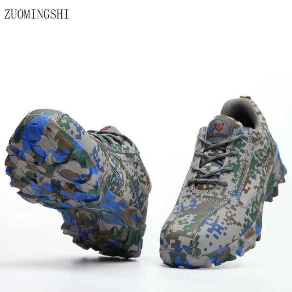 2018 neue Sommer atmungsaktive Licht Sicherheit Schuhe Männer Stahl Toe bot Sicherheit Arbeit Stiefel Tarnung rutschfeste Schuhe Leder Arbeit