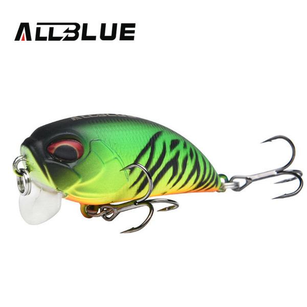 ALLBLUE Floating Shallow Diving Crankbait Fishing Lures 8.1g/50mm Lifelike Wobblers With 8# Sharp Hooks peche isca artificial Y18100806