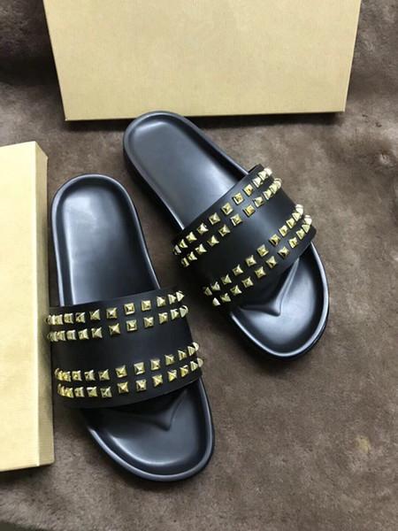 Hombres Mujeres Sandalias Diseñador Zapatos Diapositiva de lujo Moda de verano ancho plano Resbaladizo con sandalias gruesas Zapatilla Flip Flop