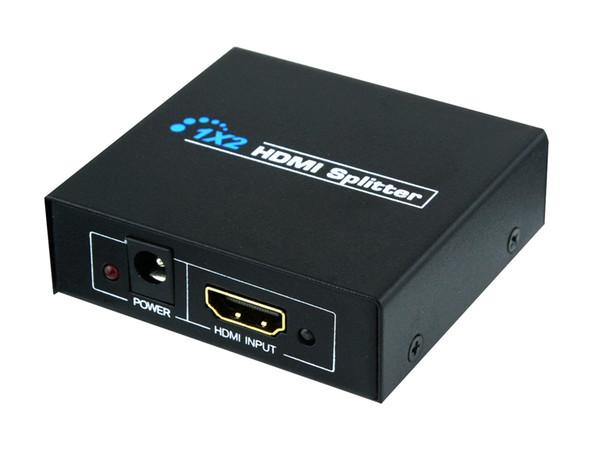 Full HD HDMI Splitter 1080p 3D 1 in 2 out 1x2 hdmi switcher Port US/EU Plug