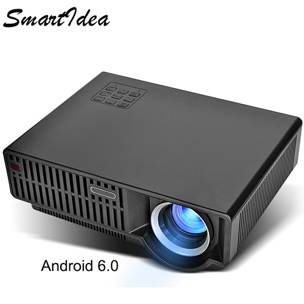 Smartldea C90UP 5000lumens Android 6.0 WIFI Home Projector play 4K video Full HD LED LCD Beamer Digital Video Game 3D Proyector
