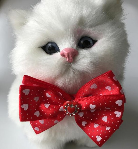 (100pcs/Lot) Big sale Fashion Pet Dog puppy Cat Bow Ties Bowknot party Valentine Grooming Products LY12