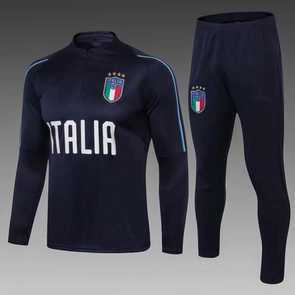 TOP 2018 2019 Italien Fußball Jacke Trainingsanzug18 Verratti de Fuß De Rossi Bonucci Chiellini Jacke Trainingsanzug GRÖßE S-XL