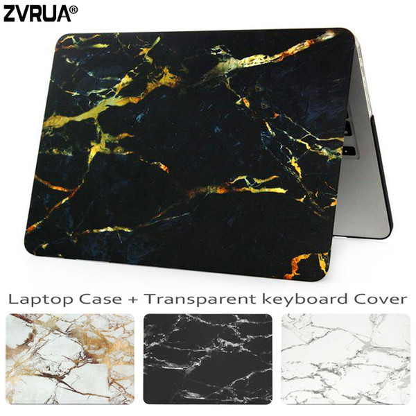 ZVRUA Marble Laptop Case for Macbook Air Pro Retina 11 12 13.3 15 inch for New Mac Book 13 15 with Touch Bar +Keyboard Cover