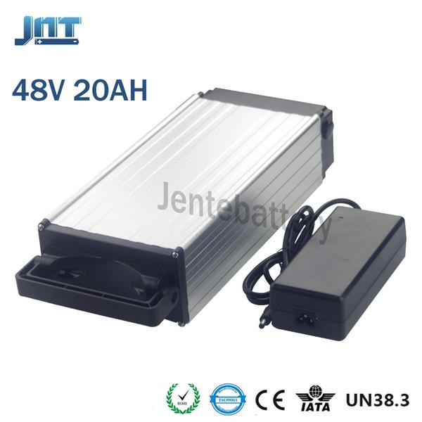 electric bike battery 48v 20ah lithium Rear rack aluminum alloy 48v e-bike battery 1000w 54.6V lithium ion battery pack