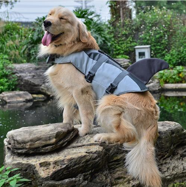 Pet Dog Shark Mermaid Life Jacket Safety Clothes For Dog Life Vest Summer Clothes Saver Swimming Preserver Swimwear Dog Life Jacket