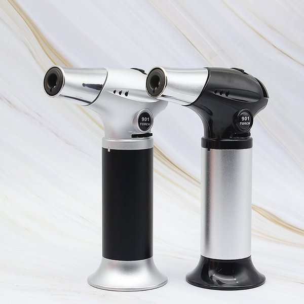 Gas Butane Torch Kitchen Blow High Temperature Electronic Gas Torch Jet flame Micro Culinary BBQ For Kitchen Tool Spray Gun FG-901