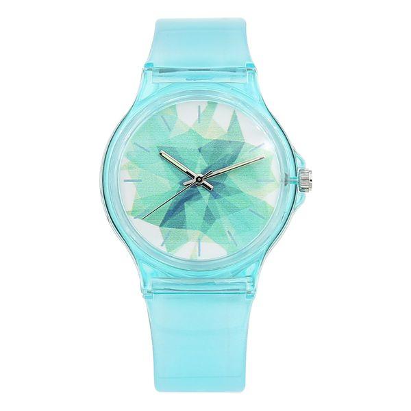 Neue Mode Luxus Einfache Mini Frauen Mädchen Wasserdicht Uhr Wasserdicht Blau Transparent Candy Gelee Für Kinder WatchY1883105