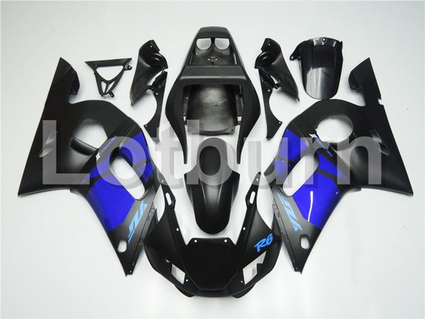High Quality ABS Plastic Fit For Yamaha YZF600 YZF 600 R6 YZF-R6 1998-2002 98 - 02 Moto Custom Made Motorcycle Fairing Kit Bodywork A424