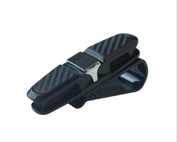 Portable Car Auto Interior Sunglasses Fastener Cip Ticket Receipt Card Pen Clamp Money Sun Visor Eyeglasses Case Holder ABS Storage Cip Acc