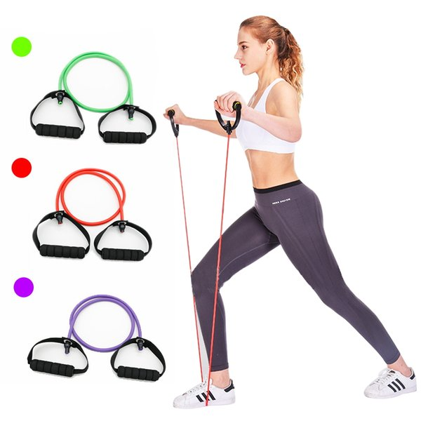 1 PC Yoga Bands Pull Rope Fitness Resistance Bands Exercise Tubes Practical Training Elastic Band Rope Yoga Workout Pull Ropes