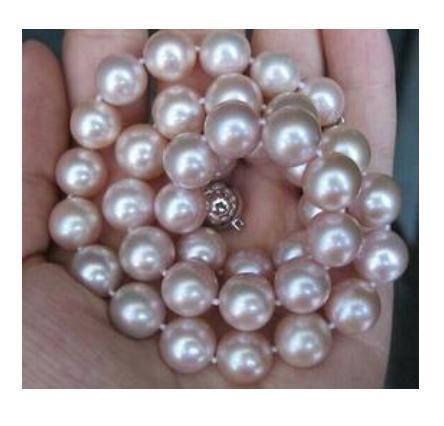 Wholesale classic 9-10mm south sea round lavender pearl necklace 18inch S925 silver