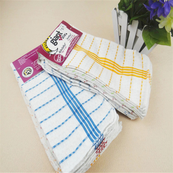 best selling 3030cm high quality kitchen cleaning set washing towel wiping rags sponge scouring pad microfiber dish cleaning cloth