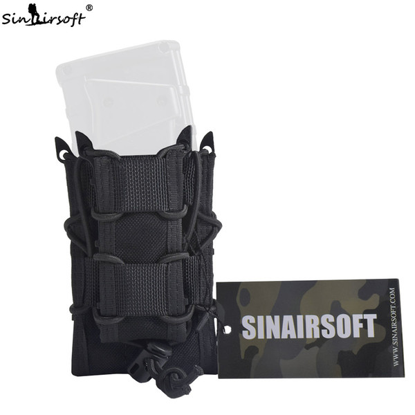 SINAIRSOFT Tactical Double Decker Magazine Pouch 1000D Nylon Mag Pouch Pistol Rifle Molle Holster Holsters For M4 M16 AK 1911 G17