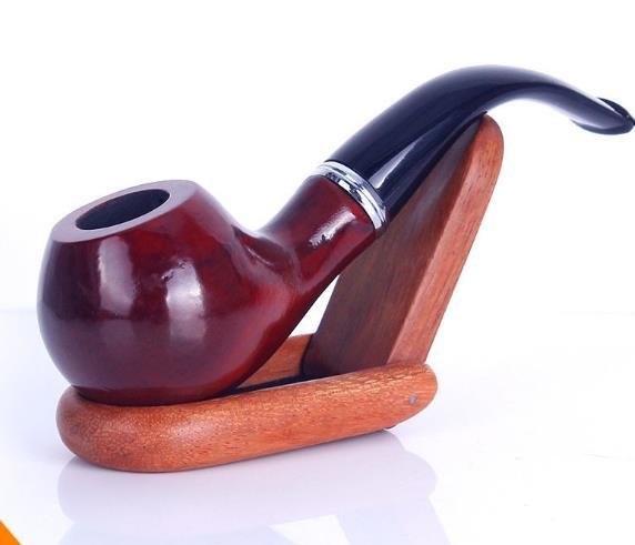 Real - Holz manuelle Tabakpfeife Filtering Resin Pipe Nachahmung Red Wood Pipe