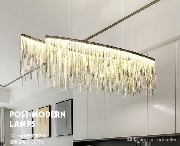 Modern minimalist Aluminum chain pendant lights led chandeliers hanging lamp suspension chandeliers livingroom indoor lighting fixture
