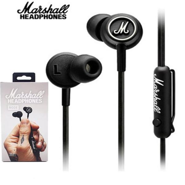 In stock! Marshall MODE EQ Earphone&Headphone With Mic In Ear Headset Universal Fashion HIFI Earphones For Mobile Phone PC Computer