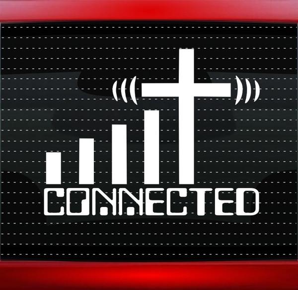 15 * 11.6 CM Bağlı Çapraz WiFi Hıristiyan Araba Çıkartması Kamyon Pencere Moda Kişilik Yaratıcı Vinil Sticker
