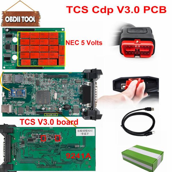 top popular 5pcs Double Green PCB V3.0 Nec Relays tcs cdp pro bluetooth 2015 R3 keygen software as wow Multidiag pro obd2 Diagnostic Tool 2019