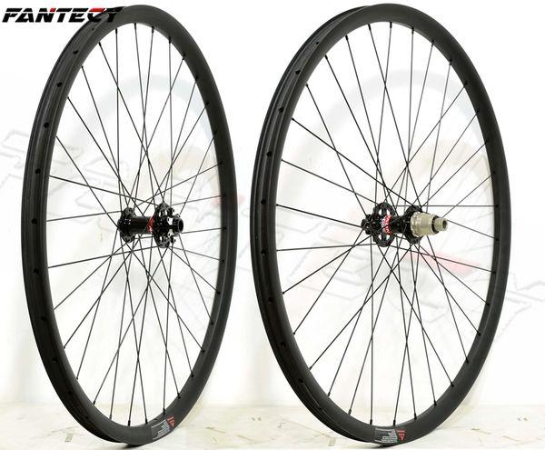 FANTECY 27.5ER VTT XC racing carbone roues sans crochet 27mm largeur 23mm profondeur tubuless mountain bike carbone roues UD mat finition