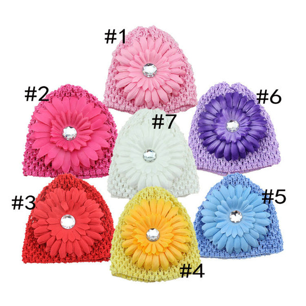 New Fachion Baby Grils Hair Accessories boutique Hats Children Flowers Rhinestone Hairbands for kids cute Lace Headwear Headdress