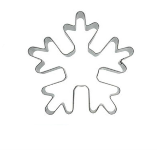50pc Christmas Winter Snowflake theme metal cookie cutters fondant cake decorating tools cupcake topper pastry bread biscuit mold