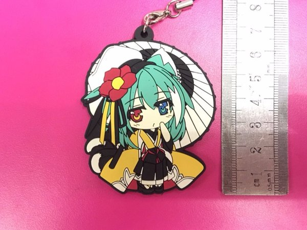Hatsune Miku Original Japanese anime figure rubber Silicone sweet smell mobile phone charms/key chain/strap