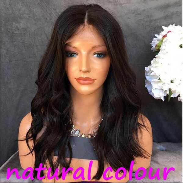 ZhiFan 8-22 inch Natural Color Hand Hook Human Hair Full Lace Wigs Europe and America Loose Wave Women's Wig