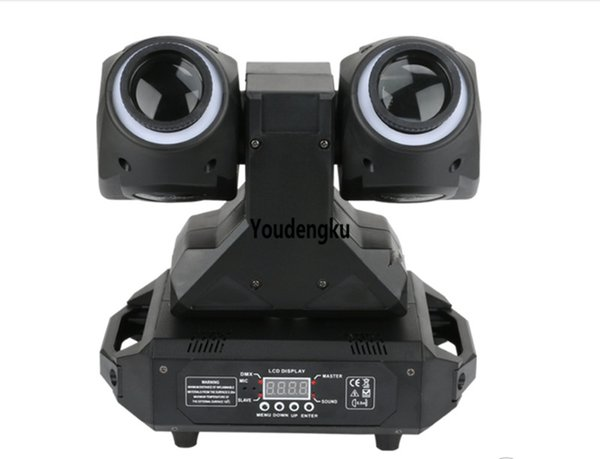 2 pezzi 2 lato 2x30 w rgbw + 2x12 led lampade a led piccola testa mobile rgbw fascio di luce / doppia faccia led testa mobile