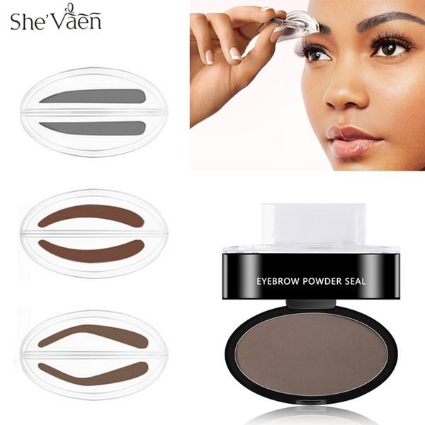 Quick Brow Stamp Makeup Sopracciglio Powder Palette Seal Natural Sopracciglio Stencil Kit Tool 3 Forme Opzione