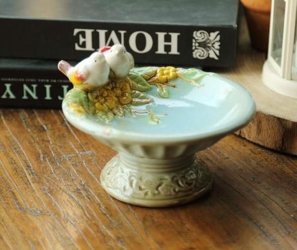Großhandel Vintage Keramik Vogel Seifenschale Marmelade Gericht Bad  Accessoires Set Raum Handwerk Wohnkulturgegenstände Porzellan Figur Von  Dong1226, ...