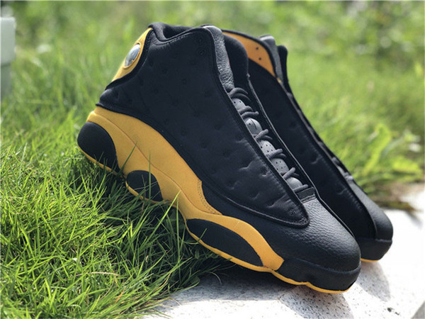 c1c89a889bc 2018 13 Melo Class of 2002 Carmelo Anthony Black Gold 13S Basketball Shoes  Man Authentic 414571