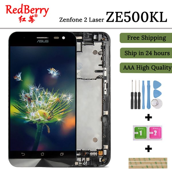100% Test 5.0'' ZE500KG Z00ED LCD For ASUS Zenfone 2 Laser ZE500KL LCD Display Touch Screen Replacement Parts free shipping