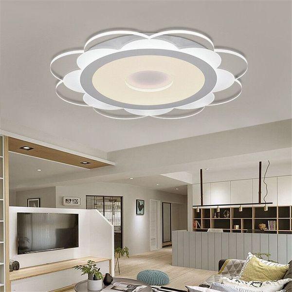 Acheter Ultra Mince Petite Marguerite LED Plafonnier Moderne Simple  Acrylique Salon Chaleureux Et Romantique Chambre Étude Tonifiant Lumière R8  De ...