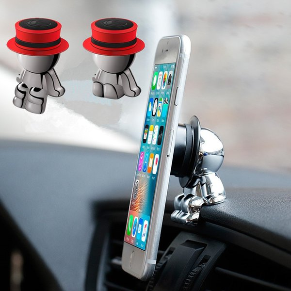 Cute Knight Ornament Car Dashboard Magnetic Phone Holder Universal Mobile Smartphone Stand GPS Support for Car Edge Office Home Desk