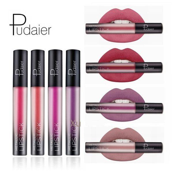 Pudaier Brand Pigment Mae Liquid Lipstick Lasting Lip Gloss Red Velvet Mae Nude Liquid Lipsticks Cosmetic Lips Batom Mae