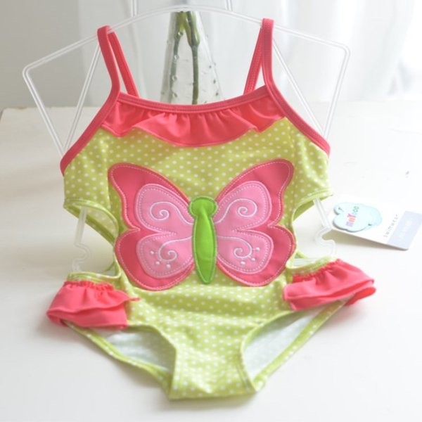 Hot Summer Children 6 Styles Swimwear Cute One Pieces Bathing Suit Girls Flower Swimsuit Jumsuit Kids Beachwear Tankini Free DHL
