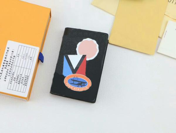 Carteras de titular de la tarjeta del diseñador de la cubierta del pasaporte de la marca Mujeres / titular de la tarjeta de los hombres monederos N64440 Con la caja CX # 186 Tenga bolsas de polvo