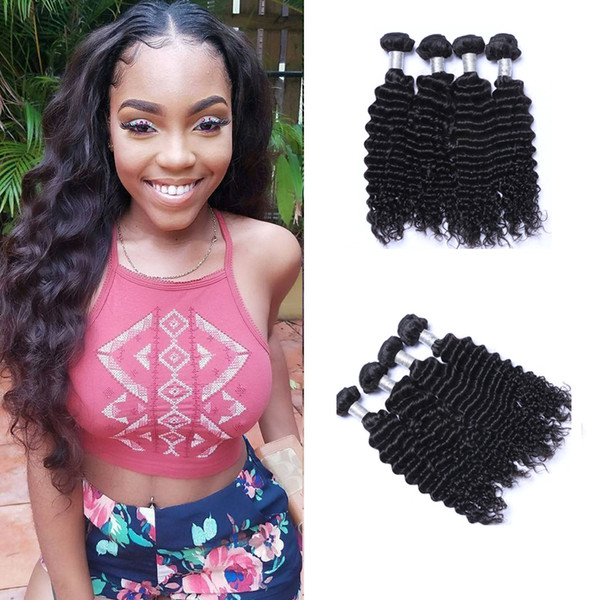 4pcs/lot Peruvian Nature Wave Virgin Hair Weave Remy Human Hair Extensions Natural Color No Shedding Tangle Free Can Be Dyed Bleached